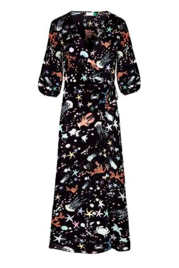 RIXO London Phoebe Under The Sea Midi Dress