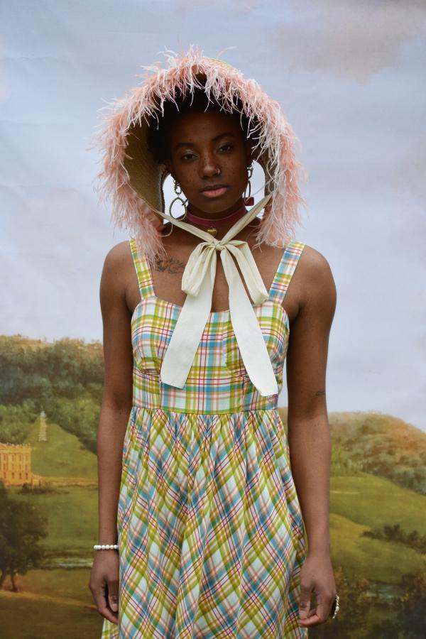 Olivia Annabelle Emma Dress in Regency Tartan 1 Preview Images