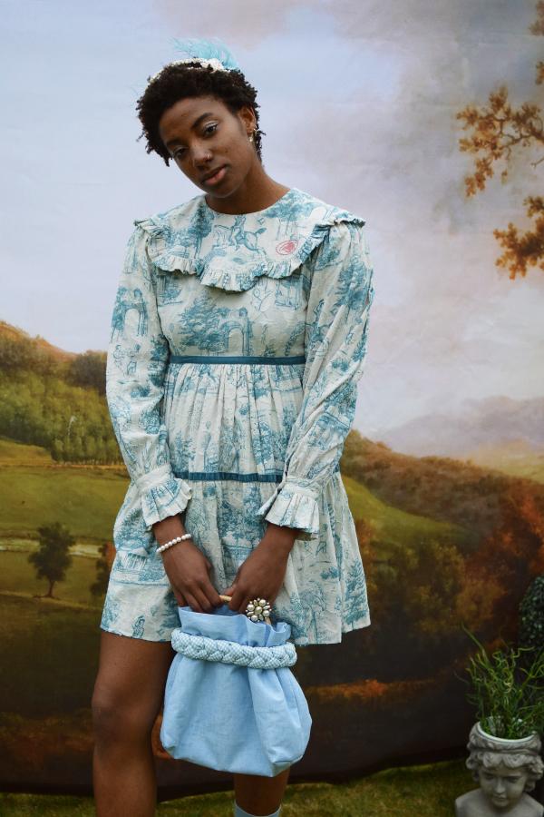 Olivia Annabelle Jane Dress in Powder Vauxhall  3
