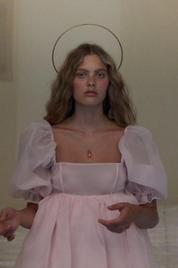 Selkie Pink Puff Mini Dress 7