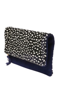 Clare V. hair calf fold over clutch Preview Images