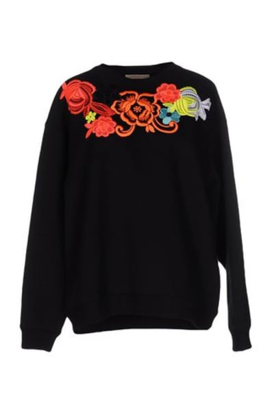 Christopher Kane Floral Embroidered Sweatshirt