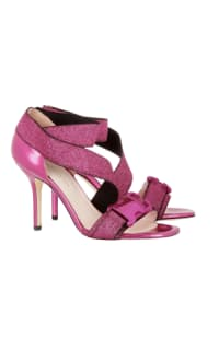 Christopher Kane Lurex Safety Buckle Sandal Preview Images