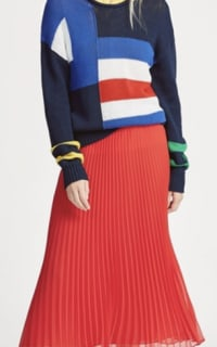 Ralph Lauren Pleated Georgette Midi Skirt 5 Preview Images