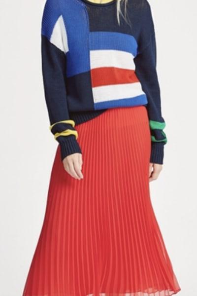 Ralph Lauren Pleated Georgette Midi Skirt 5