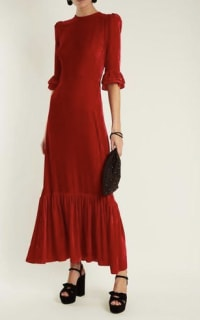 The Vampire's Wife Red velvet Maxi Dress 2 Preview Images