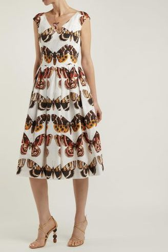 Dolce & Gabbana Butterfly-Print Dress 4 Preview Images