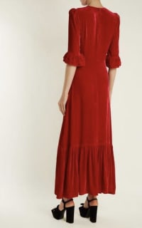 The Vampire's Wife Red velvet Maxi Dress 3 Preview Images
