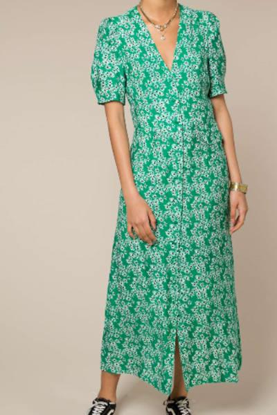RIXO London Jackson floral-print crepe de chine midi dress