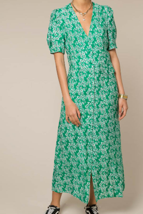 RIXO London Jackson floral-print crepe de chine midi dress