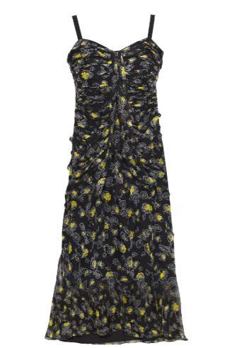 Cinq à Sept Ruched floral print silk dress Preview Images