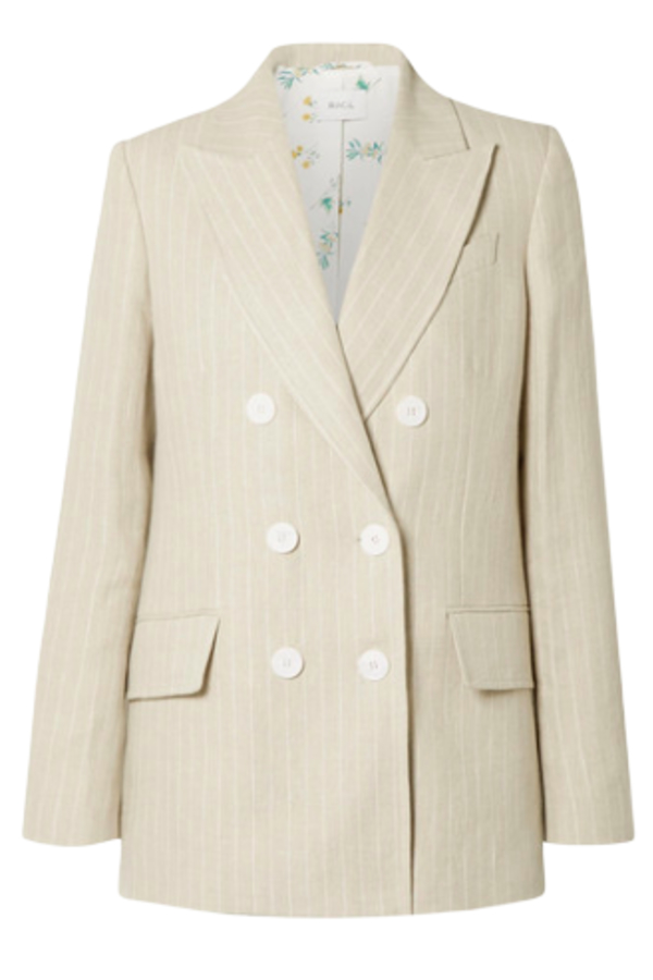 Racil Pinstriped linen blazer