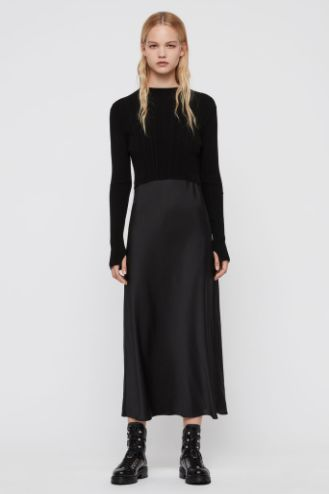 AllSaints Karla slip 2-in-1 dress 2 Preview Images