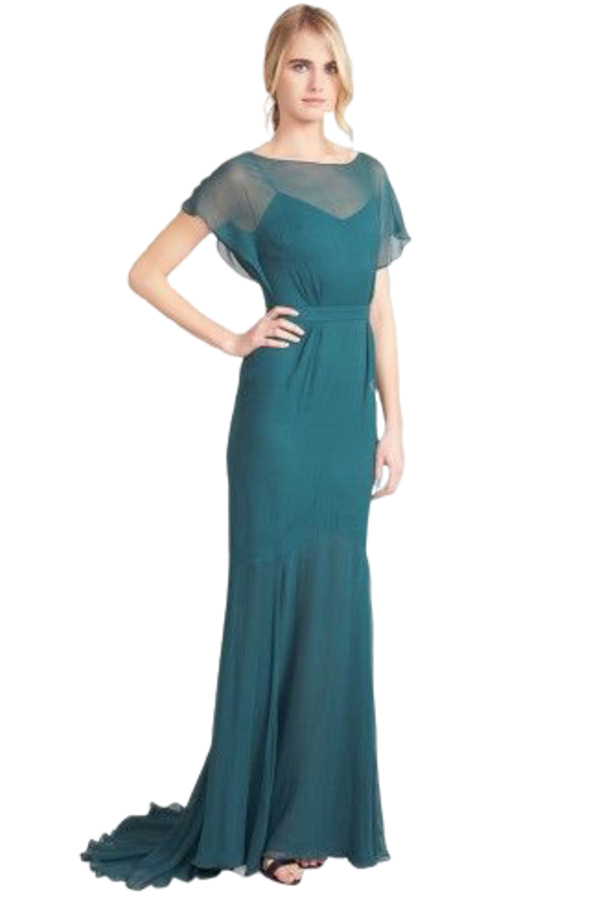 Beulah London Evergreen gown 5