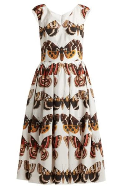 Dolce & Gabbana Butterfly-Print Dress