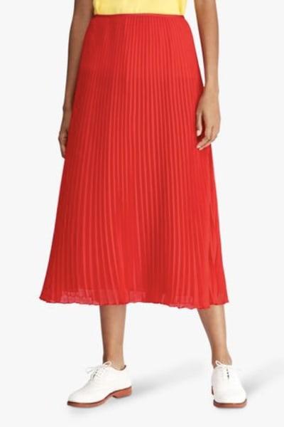 Ralph Lauren Pleated Georgette Midi Skirt 2