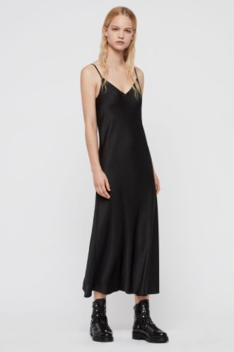 AllSaints Karla slip 2-in-1 dress 4 Preview Images