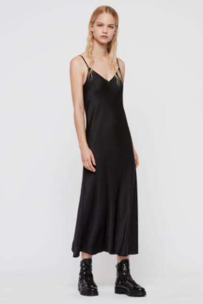 AllSaints Karla slip 2-in-1 dress 4
