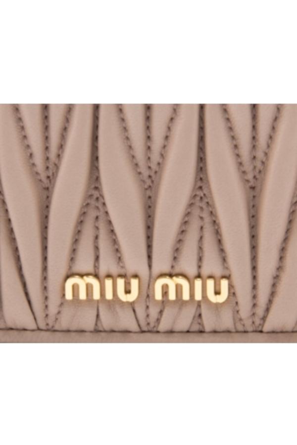 Miu Miu Matelasse Wallet On Chain 2