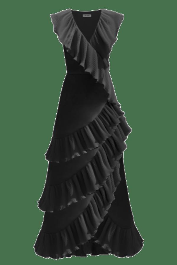 Image 1 of Georgia Hardinge ayla wrap maxi dress