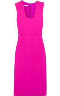 Antonio Berardi Neon Stretch-wool Dress Bright Pink 2 Preview Images