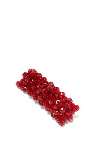 Shrimps Red Cleo Bead Embellished Hair Clip 2 Preview Images