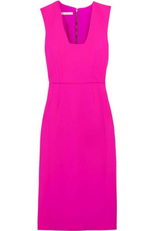 Antonio Berardi Neon Stretch-wool Dress Bright Pink 2
