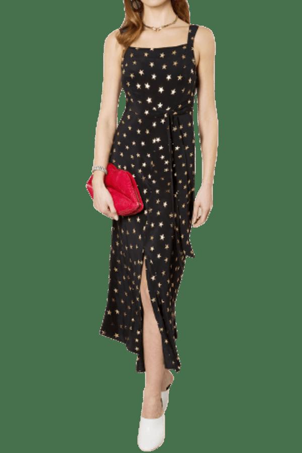 Image 2 of Rixo tara star-print dress