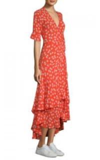 Ganni Floral-Print wrap maxi dress 4 Preview Images