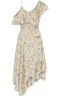 Zimmermann Asymmetric ruffled floral-print silk wrap midi dress 5 Preview Images