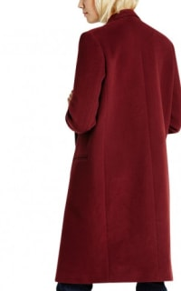 Claudie Pierlot Aubergine coat 2 Preview Images