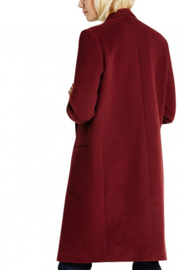 Claudie Pierlot Aubergine coat 2