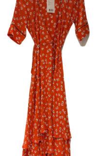 Ganni Floral-Print wrap maxi dress 2 Preview Images