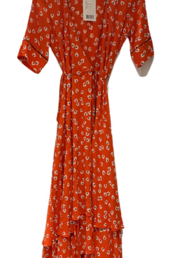 Ganni Floral-Print wrap maxi dress 2