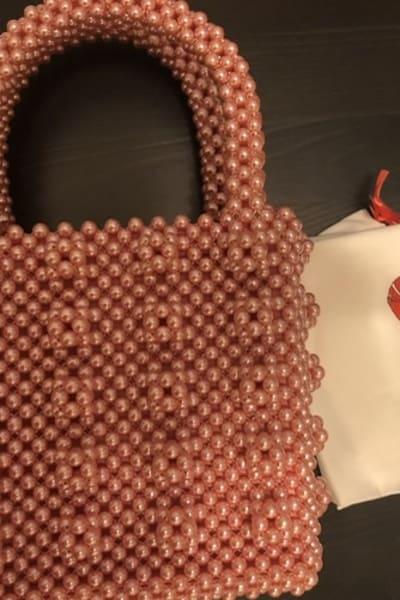 Shrimps Antonia pearl bag  3