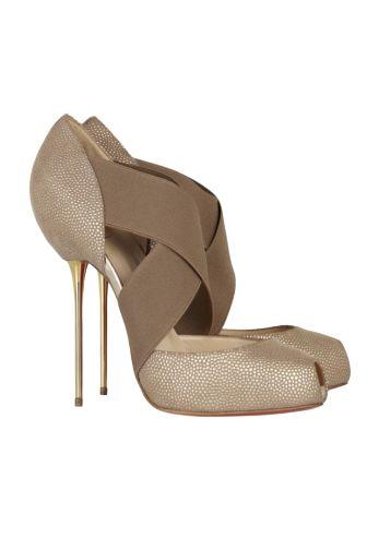 Christian Louboutin Big Dorcet 120 Gold Heels Preview Images
