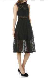 Sandro Black Panel Midi Dress 5 Preview Images