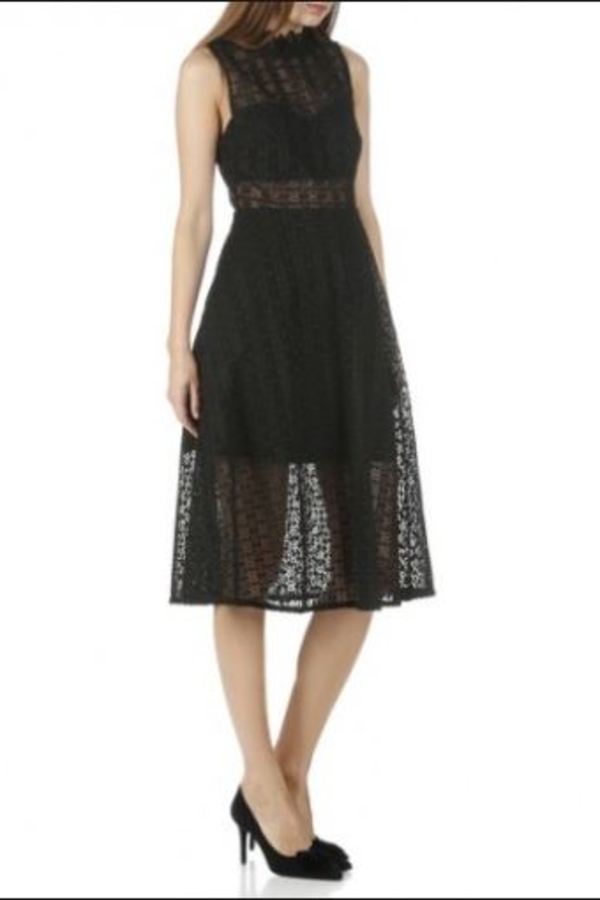 Sandro Black Panel Midi Dress 5