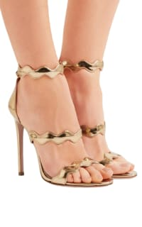 Prada Gold scalloped heels 2 Preview Images