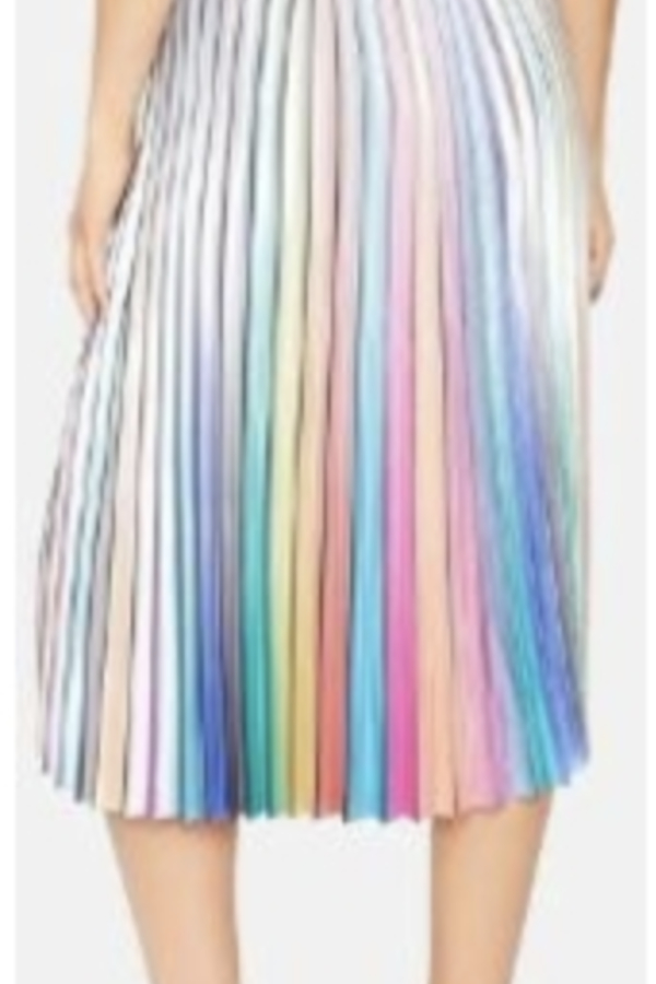 Amuse Society  Amuse Rainbow Pleated Skirt 2