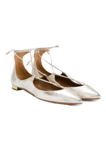 Aquazzura Gold Christy ballet flats Preview Images