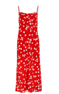BEC & BRIDGE - WHITE DAISY RED PRINTED SILK M