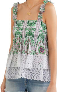 Tory Burch Garden Party Silk Georgette 6 Preview Images