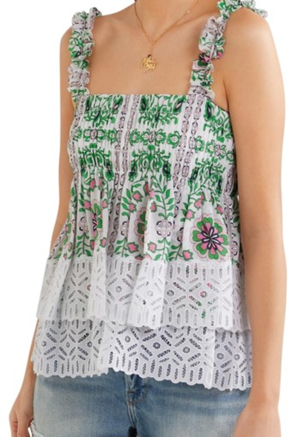 Tory Burch Garden Party Silk Georgette 6