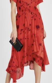Preen by Thornton Bregazzi Esther printed satin dress 2 Preview Images