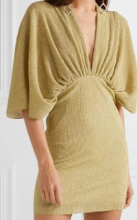 Rotate Metallic Stretch Knit Dress 2 Preview Images
