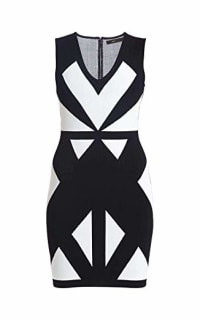 BCBGMAXAZRIA Evinna Geometric Jacquard Dress 3 Preview Images