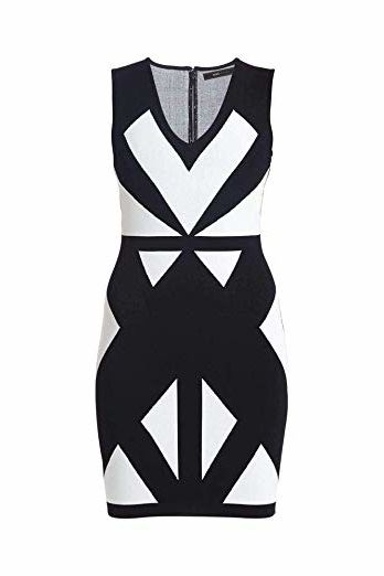 BCBG Max Azaria Evinna Geometric Jacquard Dress 3 Preview Images