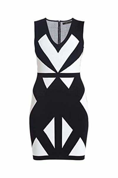 BCBGMAXAZRIA Evinna Geometric Jacquard Dress 3