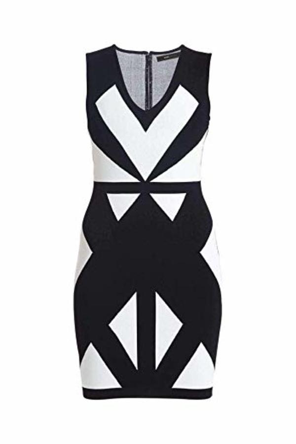 BCBGMAXAZRIA Evinna Geometric Jacquard Dress 3